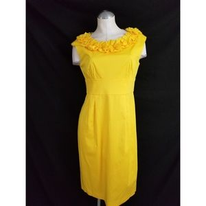 London Times Size 10 Yellow Sleeveless Dress